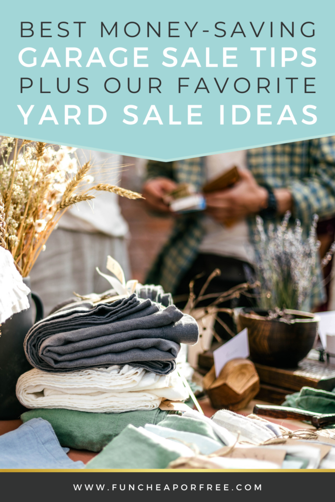 how to shop yard sales and save money, from Fun Cheap or Free