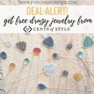 Free druzy jewelry from Cents of Style!