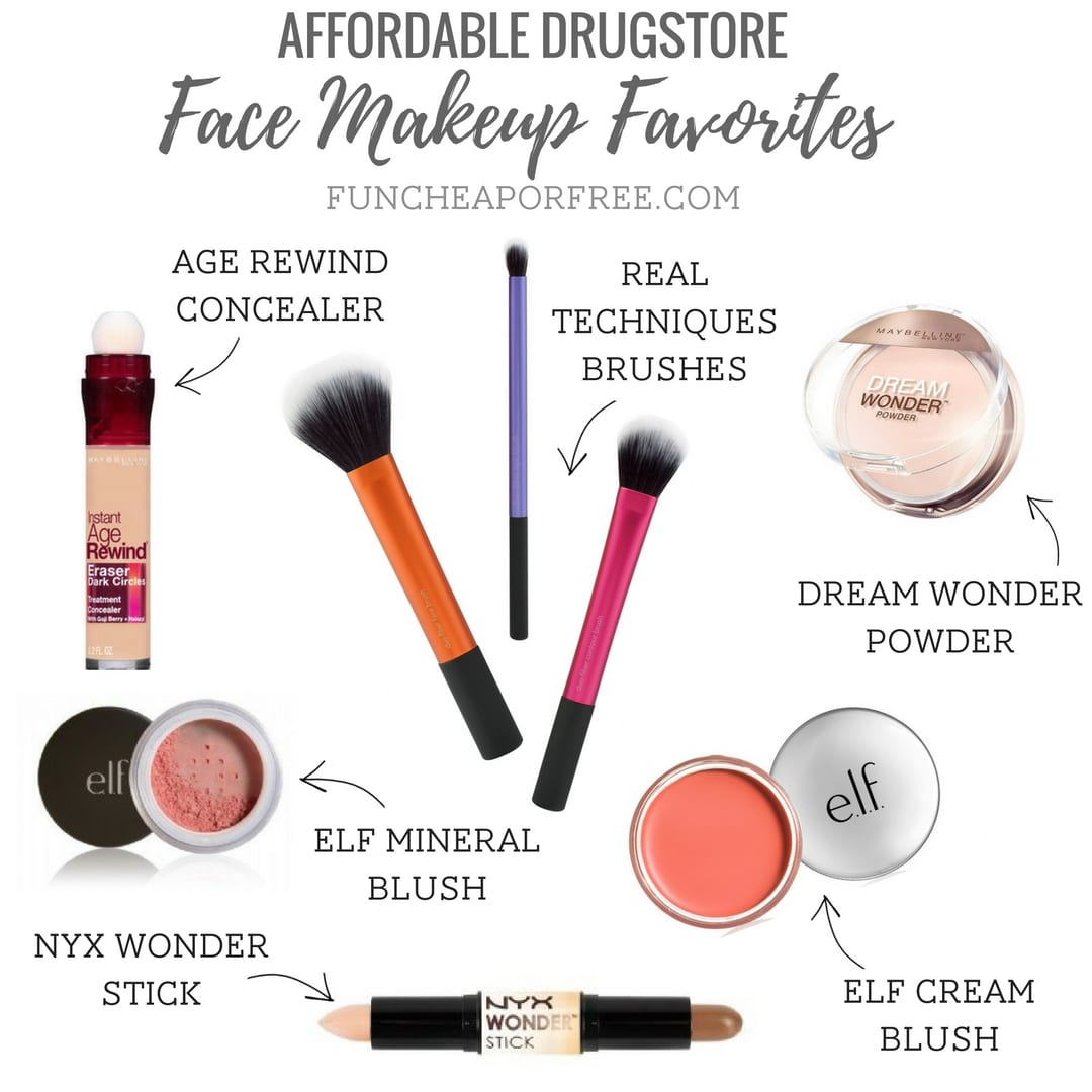 My Affordable Drugstore Makeup Favorites Fun Cheap Or Free