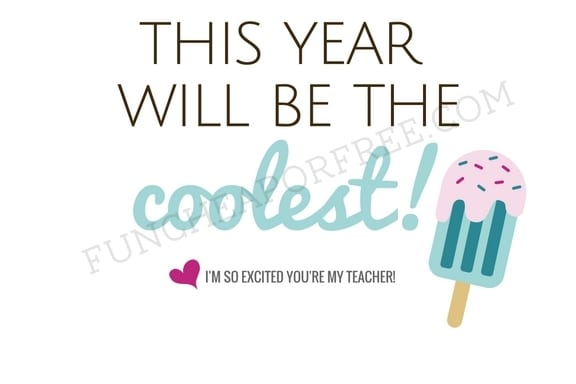 Back to school gift ideas for teachers and free printables! All ideas affordable, and under $5! www.FunCheapOrFree.com