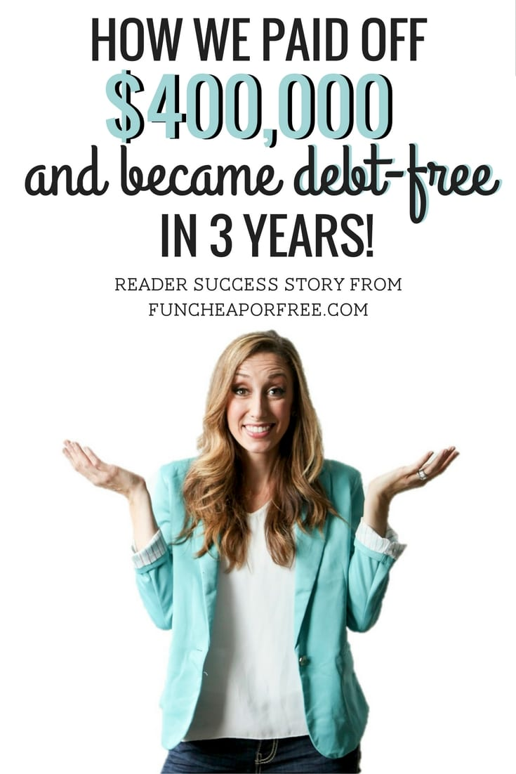 Read how reader Mindy used FunCheapOrFree.com to pay off over $400,000 in debt, became debt-free and whipped her finances into shape! www.FunCheapOrFree.com