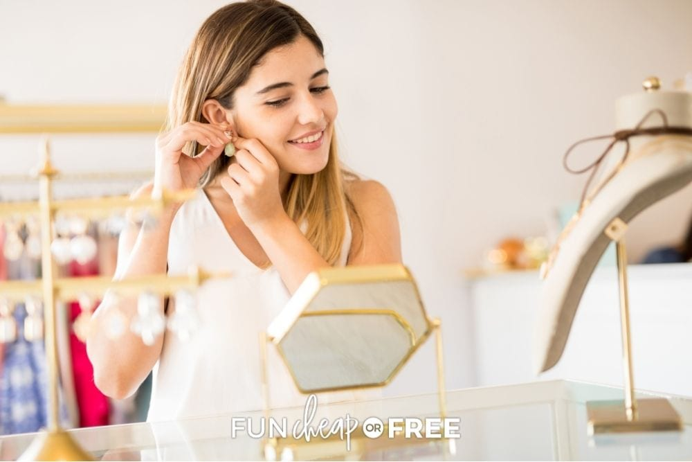 woman shopping for jewelry, from Fun Cheap or Free