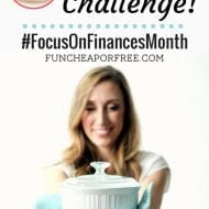 No Eating Out Challenge! (Focus on Finances Month)