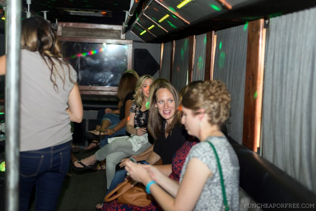 Ladies Night Party Bus Edition was a fun-filled night full of dancing, music, and delicious food! See the details, www.FunCheapOrFree.com