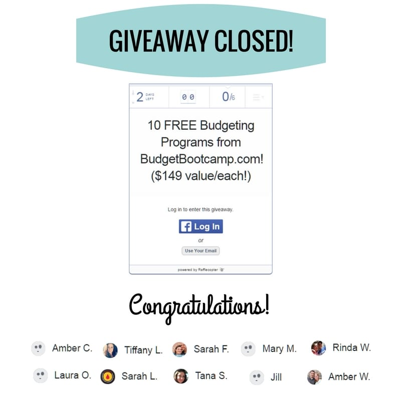 We are giving away 10 memberships to my fun budgeting program, Budget Bootcamp! Get the details at FunCheaporFree.com, or visit BudgetBootcamp.com!