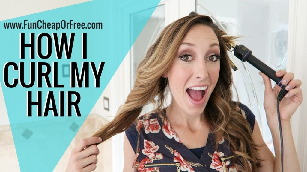 How I curl my hair - two different ways! Both ways are fast and easy! www.FunCheapOrFree.com