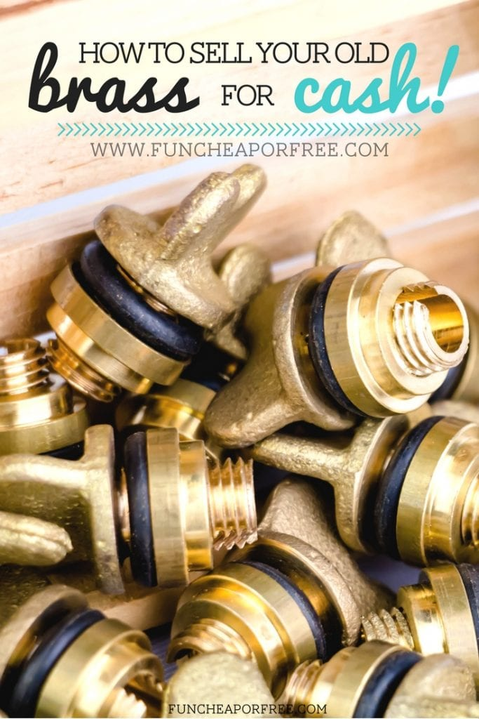 Did you know you can sell your old brass for cash?? We made $35 in less than 10 mins! See how at FunCheapOrFree.com