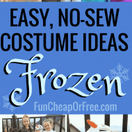 DIY Frozen Costume: No-Sew Halloween Costumes for the whole family!