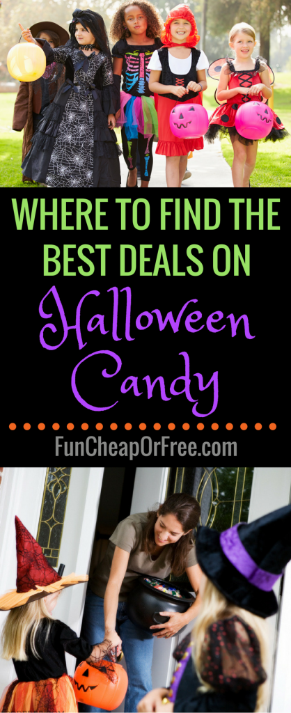 Tips and tricks on places to find the best deals on Halloween candy! www.FunCheapOrFree.com