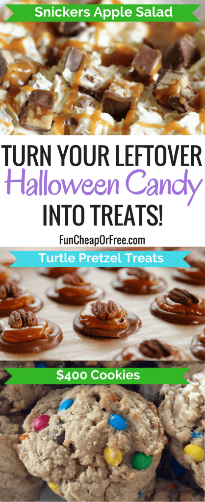 TONS of ideas and recipes for using up leftover halloween candy!