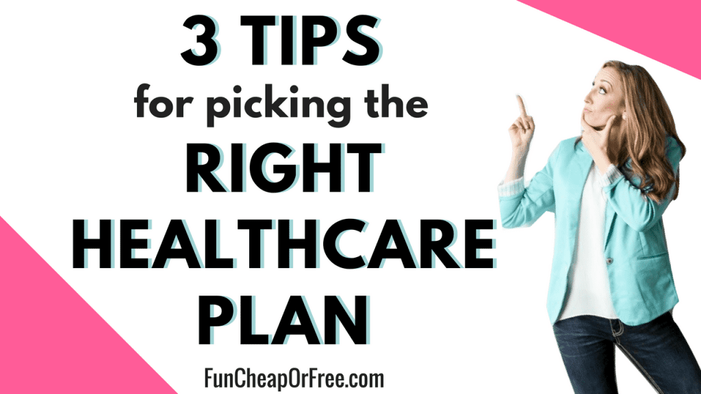 Knowing which healthcare plan is right for your family can be difficult. Get my tips for helping you know which plan is right for your family, and how to afford healthcare without breaking the bank! www.FunCheapOrFree.com