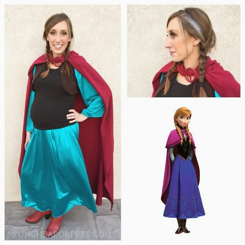 Affordable and adorable DIY Frozen Halloween costumes for the whole family! See how we did it! www.FunCheapOrFree.com