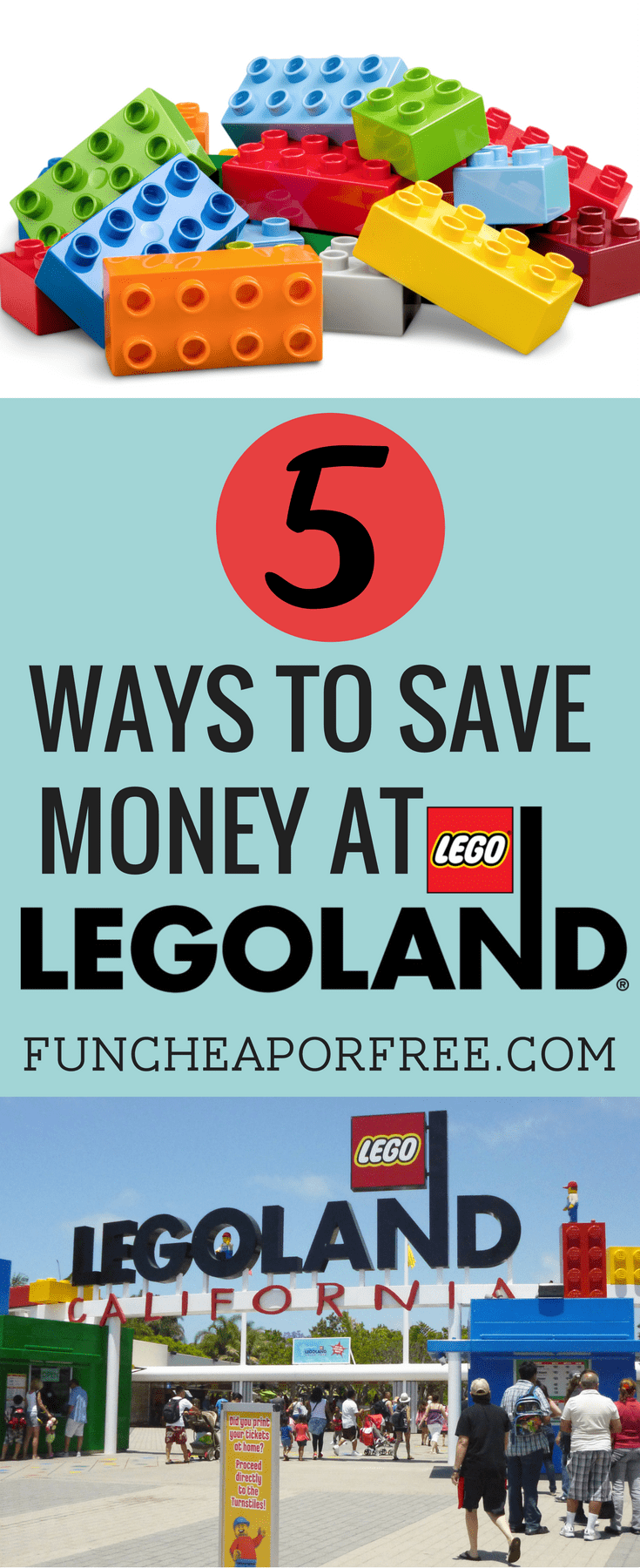 5 tips to save you money at Legoland! Visiting the theme park doesn't have to be expensive - see how we visit without breaking the bank! www.FunCheapOrFree.com