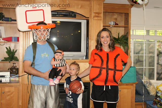 DIY basketball team costume