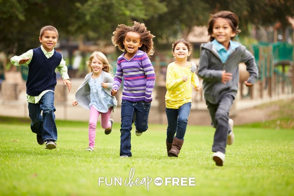 kids running and playing outside, from Fun Cheap or Free