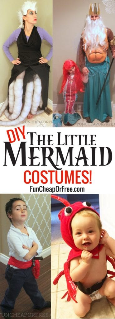 Cutest DIY Little Mermaid costumes EVER!