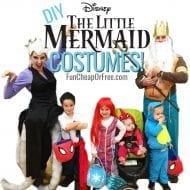 DIY Little Mermaid Costume! Cutest Family Halloween Costumes. EVER.