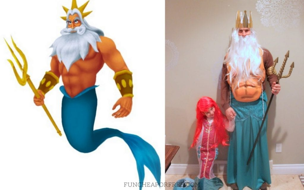 Cutest DIY Little Mermaid costumes EVER! Great family costume idea.