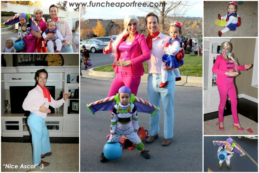 DIY toy story costumes