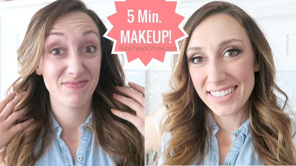 5 minute makeup! Full face of makeup, quick and easy! Video and post.