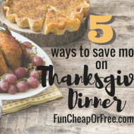 5 Ways to Save Money on Thanksgiving Dinner!