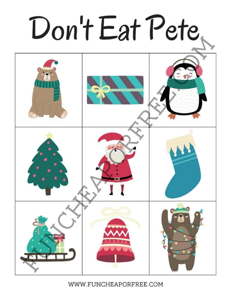 FREE PRINTABLE! Christmas Don't Eat Pete