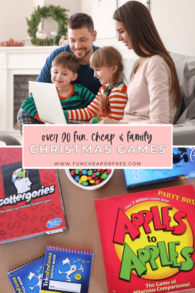 a list of fun family Christmas games, from Fun Cheap or Free