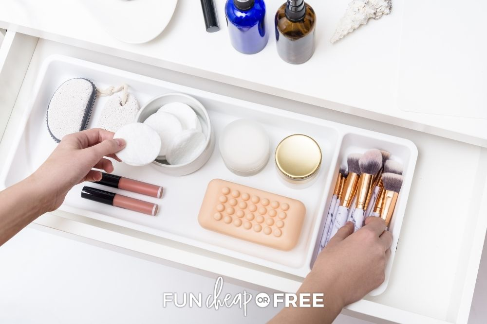 makeup brushes and skin care products, from Fun Cheap or Free