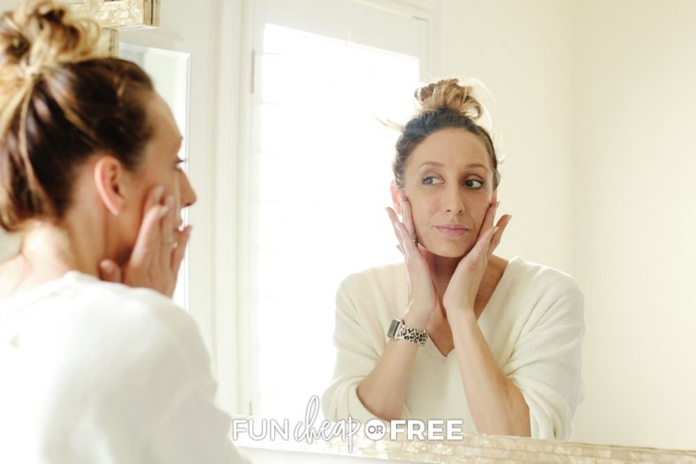 Jordan Page applying Dime Beauty products, from Fun Cheap or Free