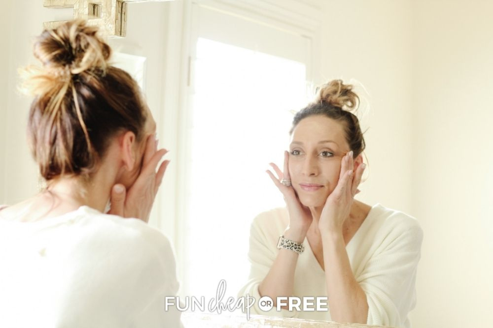 Jordan Page washing her face, from Fun Cheap or Free