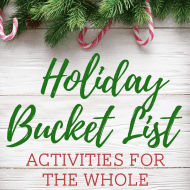 The Ultimate Holiday Bucket List! + Free Printable (Christmas Break Bo..