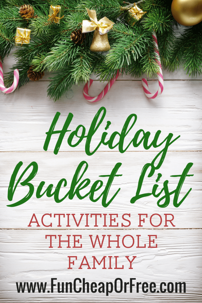 Holiday bucket list ideas from Fun Cheap or Free