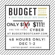 Budget Boot Camp Cyber Sale!