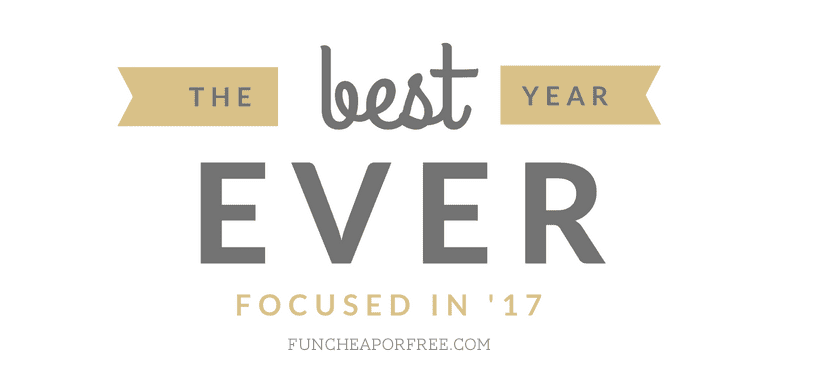 FREE monthly challenges to help you focus and organize your year - SO GOOD! From FunCheapOrFree.com
