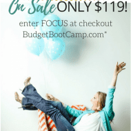 Budget Boot Camp sale to wrap up Focus on Finances Month!