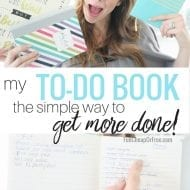 "My ""To-Do Book""…how I stay organized and get things .."