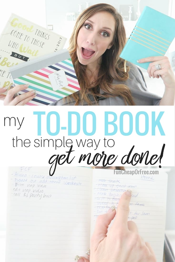 to-do book - the SIMPLEST way to get more done! It's amazing!