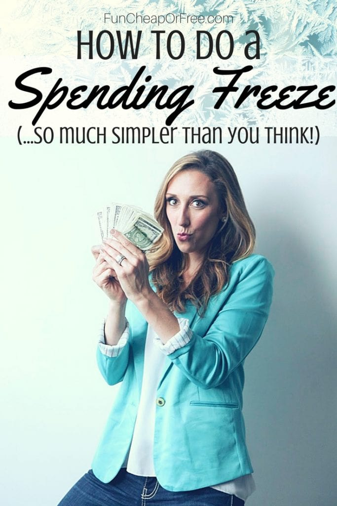 how to do a spending freeze! Video and post, SUCH good info!