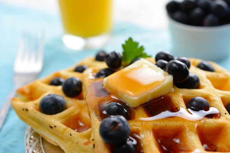 DIY Eggo Waffles - the kid-favorite breakfast that is ridiculously simple! Breakfast before school just got easier! www.FunCheapOrFree.com