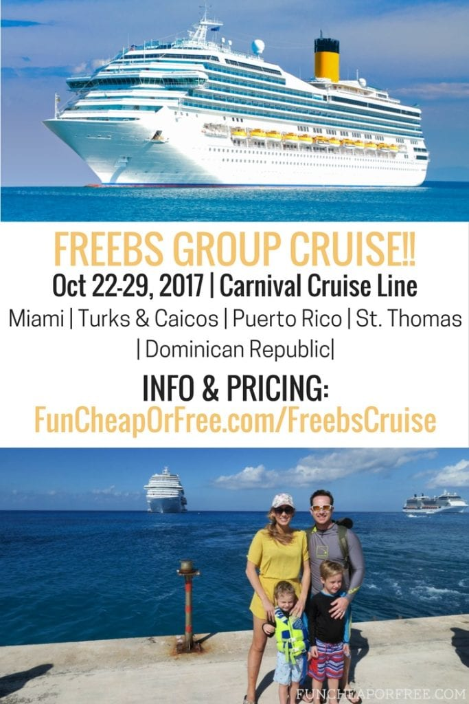 This is the best cruise I've ever seen, and it's a group cruise so it will be SO FUN!