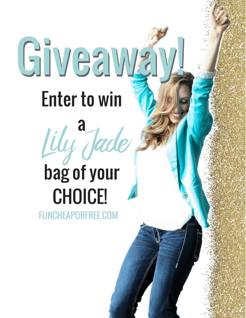 Enter for your chance to win a Lily Jade bag of your choice. FunCheapOrFree.com