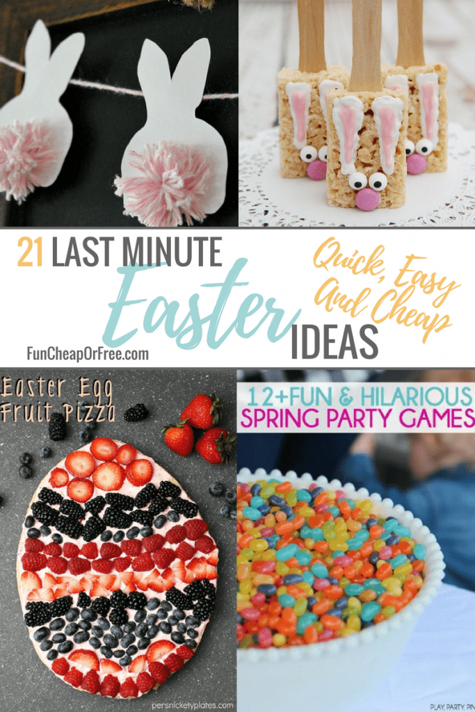 21 Last Minute Easter Ideas Quick Easy And Cheap Fun Cheap Or