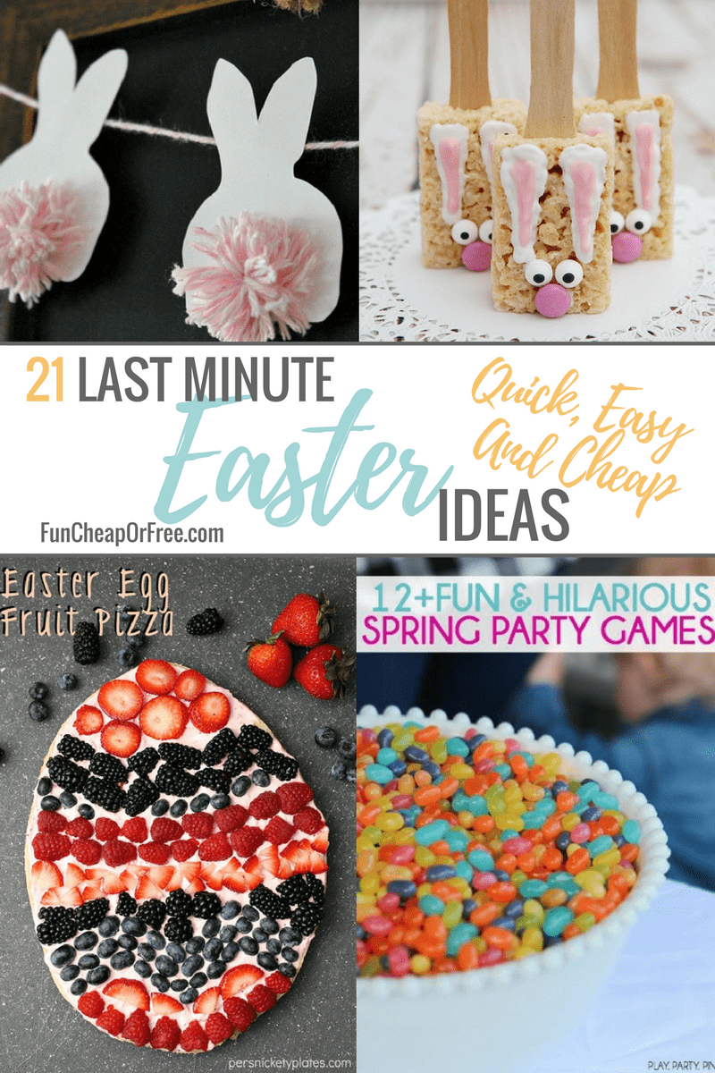 21 LAST MINUTE EASTER IDEAS   FunCheapOrFree.com