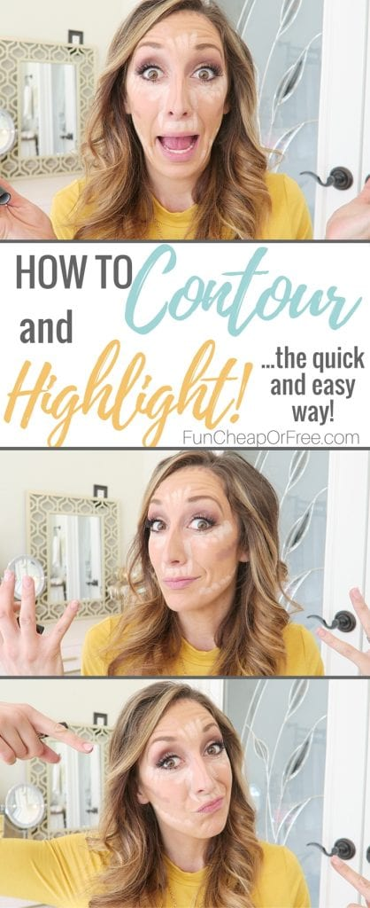 Even I can do this!! How to contour and highlight the SUPER quick and easy way!