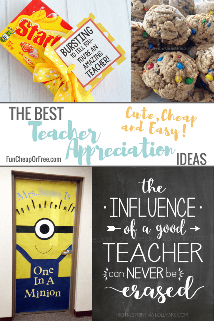 The Best Teacher Appreciation Gifts - Cute, Cheap and Easy!