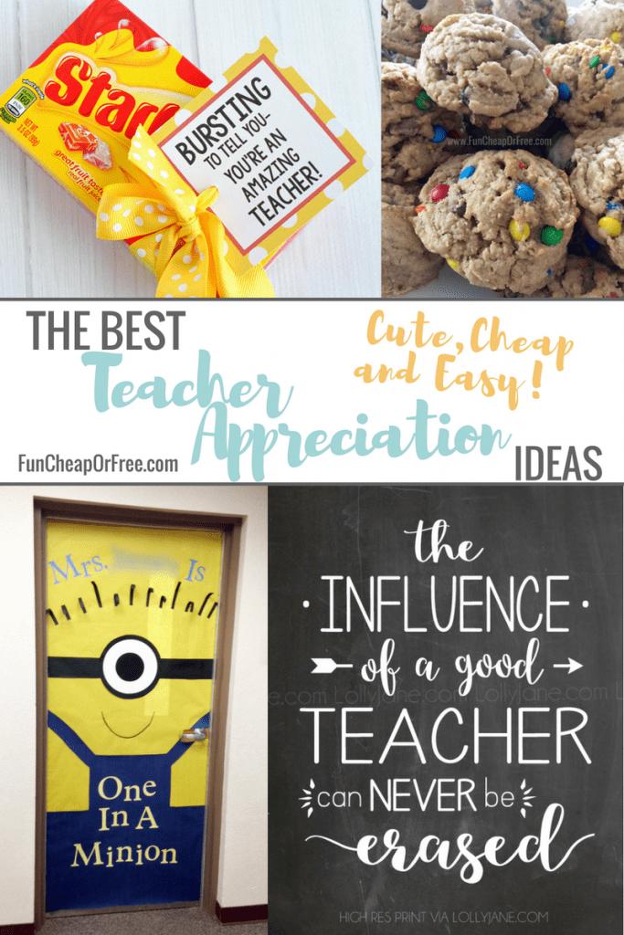 The Best Teacher Appreciation Gifts Cute Cheap And Easy Fun