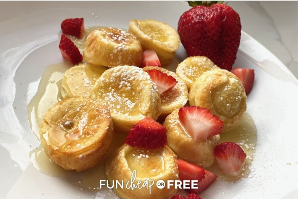 mini pancakes with strawberries, from Fun Cheap or Free