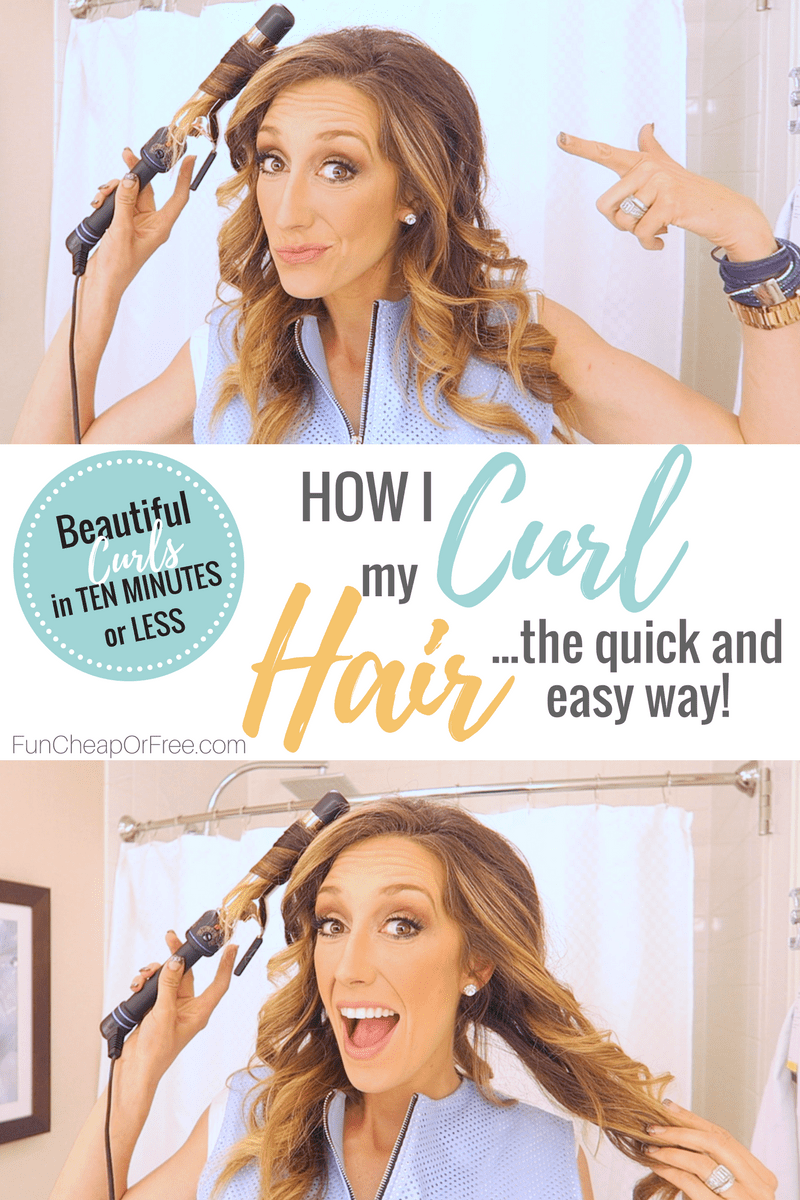 Beautiful Curls in under TEN MINUTES! How I curl my hair the quick and easy way. | FunCheapOrFree.com