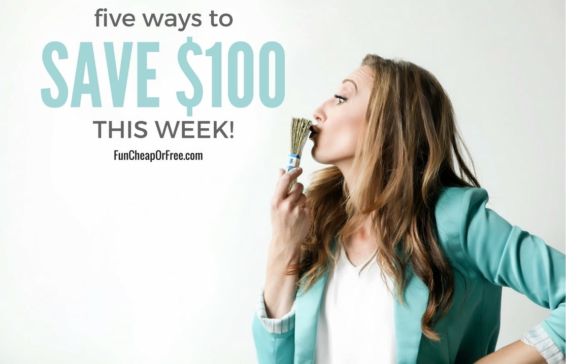 5 super easy ways to save $500 THIS WEEK! Anyone can do this! From FunCheapOrFree.com