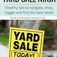 How to become a Yard Sale Ninja